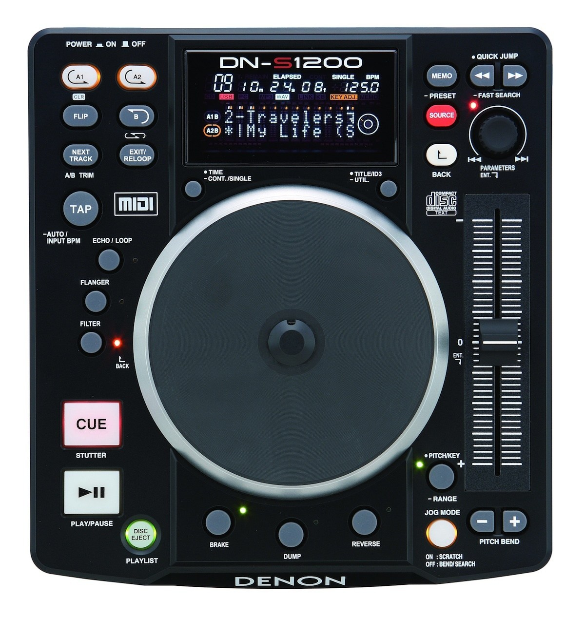 The Denon DN-S1200 digital deck