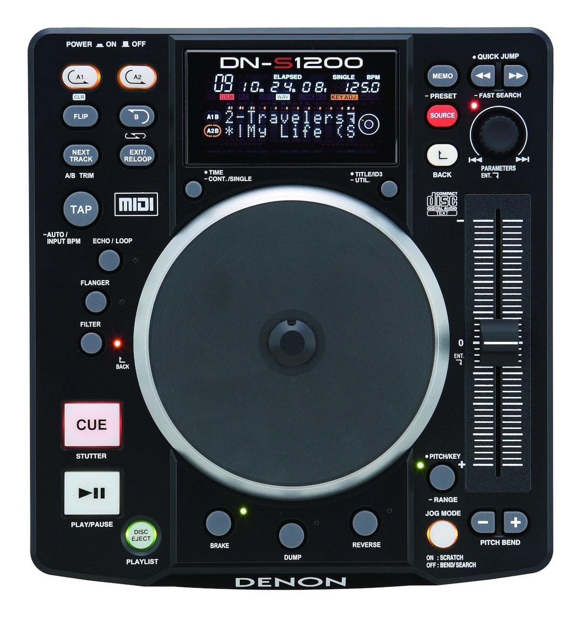 The Denon DN-S1200 digital deck