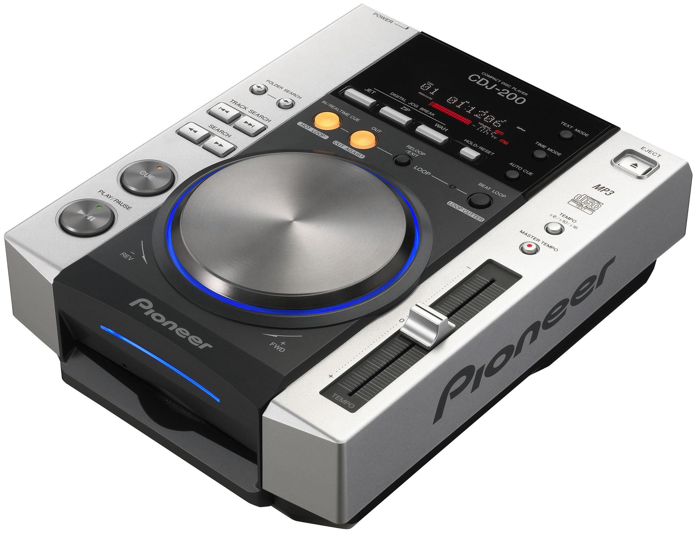 The Pioneer CDJ-200 CD deck