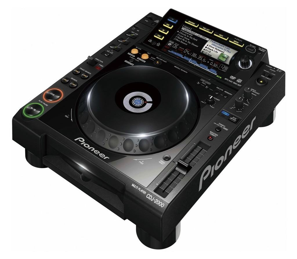The Pioneer CDJ-2000 CD player