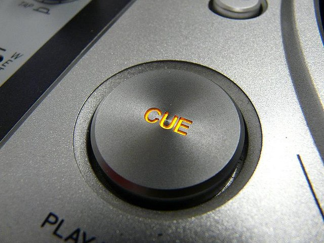 Cue button on a pro CD deck
