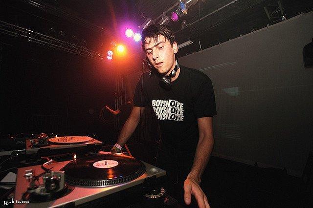 Club DJ spinning vinyl records